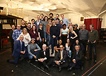 """Erika Olson, Conor Ryan, Peter Noone and Jonny Amies with the cast and creative team during the Sneak Peak Meet the cast and creative team of the World Premiere production of """"My Very Own British Invasion"""" on January 16, 2019 at the Church of Saint Paul The Apostle in New York City."""