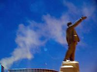 Vladimir Lenin sculpture on Lenin Square in Yakutsk.