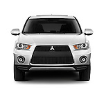Straight front view of a 2011 Mitsubishi Outlander GT
