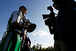North Ferriby Captain Liam King with the trophy. Vanarama National League North, Promotion Final, North Ferriby United v AFC Fylde, 14th May 2016.