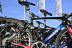 John Degenkolb's Giant-Alpecin Team bike on the team car at sign on before the start of the 113th edition of the Paris-Roubaix 2015 cycle race held over the cobbled roads of Northern France. 12th April 2015.<br /> Photo: Eoin Clarke www.newsfile.ie