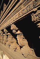 Detail of the exterior carving on the Rani Sipri (Sabrai) mosque. Ahmedabad, India.