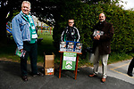 Programme sellers. Vanarama National League North, Promotion Final, North Ferriby United v FC Fylde, 14th May 2016.