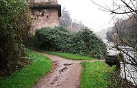 Trezzo sull'Adda (Milano). Sentiero lungo il fiume --- Trezzo sull'Adda (Milan). Path along the river