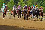 John Velazquez aboard In Lingerie  wins of the Black-Eyed Susan Stakes at Pimlico Race Course on Black Eyed Susan Day in Baltimore, MD on 05/18/12. Trained by Todd Pletcher (Ryan Lasek/ Eclipse Sportswire)