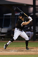 AZL White Sox designated hitter Steele Walker (8) at bat during an Arizona League game against the AZL Athletics at Camelback Ranch on July 15, 2018 in Glendale, Arizona. The AZL White Sox defeated the AZL Athletics 2-1. (Zachary Lucy/Four Seam Images)