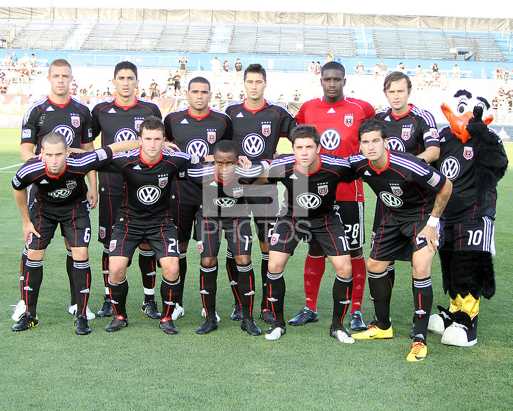 Starting eleven of D.C. United during a US Open Cup match against the Harrisburg City Islanders at the Maryland Soccerplex on July 21 2010, in Boyds, Maryland. United won 2-0.