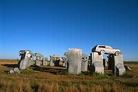 Obscure Carhenge designed 1987 by a Reindeers family in Alliance Nebraska