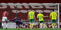 Norwich City's Teemu Pukki scores the opening goal from the penalty spot<br /> <br /> Photographer Alex Dodd/CameraSport<br /> <br /> The EFL Sky Bet Championship - Middlesbrough v Norwich City - Saturday 21st November 2020 - Riverside Stadium - Middlesbrough<br /> <br /> World Copyright © 2020 CameraSport. All rights reserved. 43 Linden Ave. Countesthorpe. Leicester. England. LE8 5PG - Tel: +44 (0) 116 277 4147 - admin@camerasport.com - www.camerasport.com