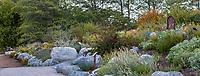 Hummingbird Hill, California native plant display garden at Southern California Montane Botanic Garden, Wildlands Conservancy in Oak Glen