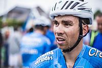 Sean De Bie (BEL/Veranda's Willems Crelan) after finishing 3th place. <br /> <br /> 71th Halle Ingooigem 2018 (1.1)<br /> 1 Day Race: Halle > Ingooigem (197.7km)