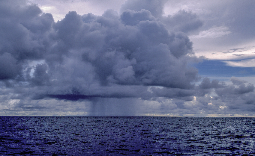 Stormy Weather over the Pacific near Palau, Micronesia
