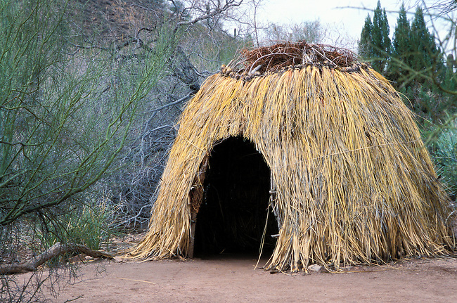 A Paiute shelter in the Great Basin area was generally built using brush and grasses covering a dome shaped stick frame