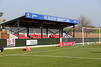 General view of the ground during Maldon & Tiptree vs Morecambe, Emirates FA Cup Football at the Wallace Binder Ground on 8th November 2020