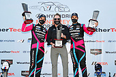 Winners #86 Meyer Shank Racing w/Curb-Agajanian Acura NSX GT3, GTD: Mario Farnbacher, Matt McMurry, podium, team owner Mike Shank