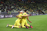 26th May 2021; STADION GDANSK  GDANSK, POLAND; UEFA EUROPA LEAGUE FINAL, Villarreal CF versus Manchester United:  GERARD MORENO celebrates as after scoring his goal  for 1-0 with JUAN FOYTH