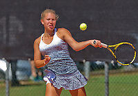 Netherlands, Rotterdam August 05, 2015, Tennis,  National Junior Championships, NJK, TV Victoria, Donnaroza Gouvernante<br /> Photo: Tennisimages/Henk Koster
