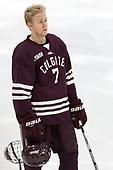 Josh McKechney (Colgate - 7) - The visiting Colgate University Raiders shut out the Harvard University Crimson for a 2-0 win on Saturday, January 27, 2018, at Bright-Landry Hockey Center in Boston, Massachusetts.