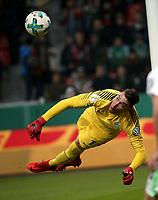 06.02.2018, Bay - Arena, Leverkusen, GER, DFB-Pokal, Bayer 04 Leverkusen vs Werder Bremen<br /> , <br />goalkeeper Jiri Pavlenka (Bremen) *** Local Caption *** © pixathlon<br /> Contact: +49-40-22 63 02 60 , info@pixathlon.de