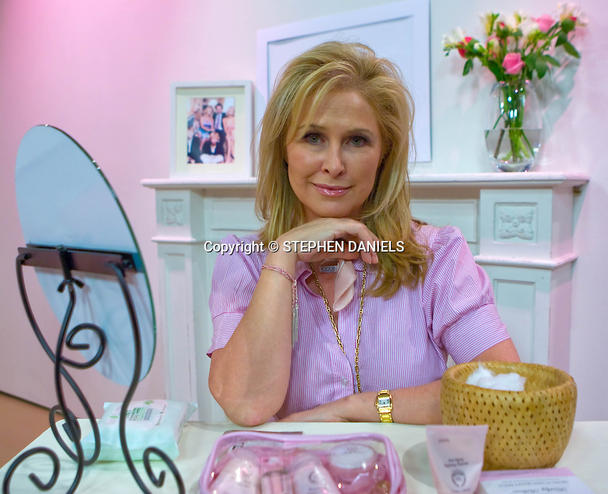 PHOTO BY © STEPHEN DANIELS <br /> Mrs Kathy Hilton mother of Paris Hilton selling her Health and Beauty on Shopping Channel