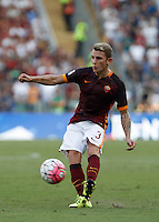 Calcio, Serie A: Roma vs Juventus. Roma, stadio Olimpico, 30 agosto 2015.<br /> Roma's Lucas Digne in action during the Italian Serie A football match between Roma and Juventus at Rome's Olympic stadium, 30 August 2015.<br /> UPDATE IMAGES PRESS/Isabella Bonotto