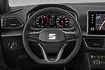 Car pictures of steering wheel view of a 2020 Seat Tarraco FR 5 Door SUV Steering Wheel