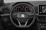 Car pictures of steering wheel view of a 2020 Seat Tarraco FR 5 Door SUV Steering Wheel