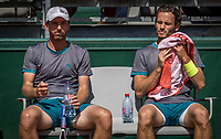 Paris, France, 31 May, 2017, Tennis, French Open, Roland Garros, Man's doubles Wesley Koolhof (NED) / Matwe Middelkoop (NED) (L)<br /> Photo: Henk Koster/tennisimages.com