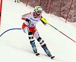 Erin Latimer, Sochi 2014 - Para Alpine Skiing // Para-ski alpin.<br /> Erin Latimer competes in the women's slalom standing event // Erin Latimer participe au slalom debout féminin. 12/03/2014.