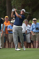 PONTE VEDRA BEACH, FL - MAY 5: Phil Michelson hits his 2nd shot on the par 4 12th hole during his practice round on Tuesday, May 5, 2009 for the Players Championship, beginning on Thursday, at TPC Sawgrass in Ponte Vedra Beach, Florida.
