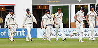 Kent captain Heino Kuhn (C) leads his team out during Kent CCC vs Sussex CCC, LV Insurance County Championship Group 3 Cricket at The Spitfire Ground on 14th July 2021