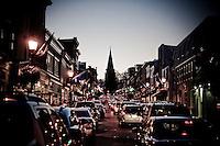 Annapolis MD Maryland Eastern Shore Virginia Chesapeake Bay.Main Street Annapolis Downtown