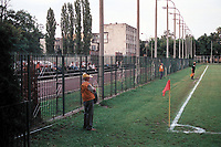 General view of Legia Warsaw FC Training Ground, adjacent Polish Army Stadium, Warsaw, Poland, pictured on 25 August 1996