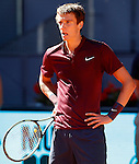 Andrey Kuznetsov, Russia, during Madrid Open Tennis 2016 match.May, 3, 2016.(ALTERPHOTOS/Acero)