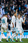 Luka Modric of Real Madrid celebrates during the La Liga 2017-18 match between Real Madrid and RC Deportivo La Coruna at Santiago Bernabeu Stadium on January 21 2018 in Madrid, Spain. Photo by Diego Gonzalez / Power Sport Images