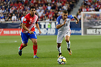 Harrison, NJ - Friday Sept. 01, 2017: Johnny Acosta, Fabian Johnson during a 2017 FIFA World Cup Qualifier between the United States (USA) and Costa Rica (CRC) at Red Bull Arena.
