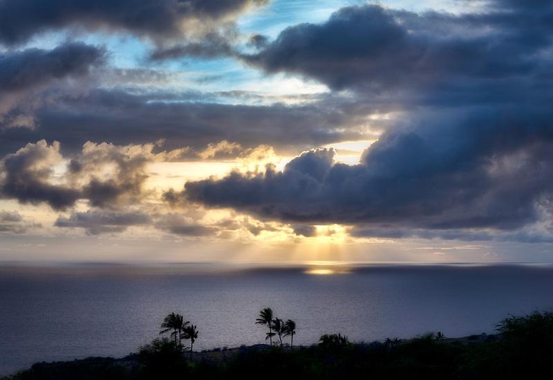 Clouds over Hawaii the big island.