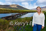 Jessica O'Connor from Cahersiveen secured just under 300 signatures from the younger population in the area in support of the South Kerry Greenway, pictured here at the Cahersiveen Park with the Old Railway Bridge in the background.
