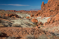 Valley of Fire, Nevada.  Looking back on Trail to the Fire Wave.