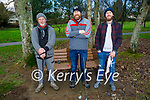 Thomas Kelly, John and Robert Heffernan ready to enjoy some golf in the Listowel town park on New Years Eve.