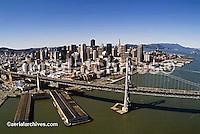 aerial photograph Bay Bridge to San Francisco