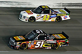 NASCAR Camping World Truck Series<br /> TheHouse.com 225<br /> Chicagoland Speedway, Joliet, IL USA<br /> Friday 15 September 2017<br /> Myatt Snider, Louisiana Hot Sauce Toyota Tundra and Regan Smith, BTS Tire & Wheel / Commercial Tire & Service/Advance Auto Parts/ CarQuest/ Valvoline Ford F150<br /> World Copyright: Russell LaBounty<br /> LAT Images
