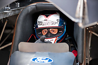 Jul 18, 2020; Clermont, Indiana, USA; NHRA funny car driver Bob Tasca III during qualifying for the Summernationals at Lucas Oil Raceway. Mandatory Credit: Mark J. Rebilas-USA TODAY Sports