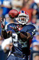 21 October 2007: Buffalo Bills cornerback Terrence McGee pulls in the opening kickoff of the game against the Baltimore Ravens at Ralph Wilson Stadium in Orchard Park, NY. The Bills defeated the Ravens 19-14 in front of 70,727 fans marking their second win of the 2007 season...Mandatory Photo Credit: Ed Wolfstein Photo