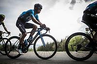 Andrey Amador (CRC/Team Movistar) up the COL du Rosier.<br /> <br /> 104th Liège - Bastogne - Liège 2018 (1.UWT)<br /> 1 Day Race: Liège - Ans (258km)