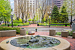 Fountain dedicated th George Thorndike Angell near the Norman J. Leventhal Park at Post Office Square, Boston, Massachusetts, USA