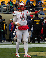 Rutgers quarterback Mike Bimonte. The Pitt Panthers defeat the Rutgers Scarlet Knights 27-6 on Saturday, November 24, 2012 at Heinz Field , Pittsburgh, PA.