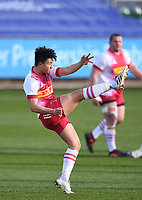 6th February 2021; Recreation Ground, Bath, Somerset, England; English Premiership Rugby, Bath versus Harlequins; Marcus Smith of Harlequins kicks for field position