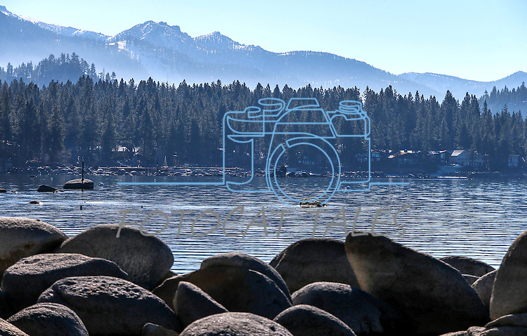 A view of Lake Tahoe, from Zephyr Cove, Nev., on Tuesday, Dec. 23, 2014.<br /> Photo by Cathleen Allison