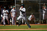 Dartmouth Big Green Michael Calamari (3) scores a run during a game against the Omaha Mavericks on February 23, 2020 at North Charlotte Regional Park in Port Charlotte, Florida.  Dartmouth defeated Omaha 8-1.  (Mike Janes/Four Seam Images)